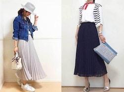 ユニクロのシフォンプリーツスカートが凄い!ママの着回しコーデ実例