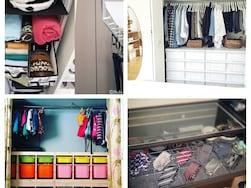 IKEAでクローゼットをスッキリさせる収納法&実例8選